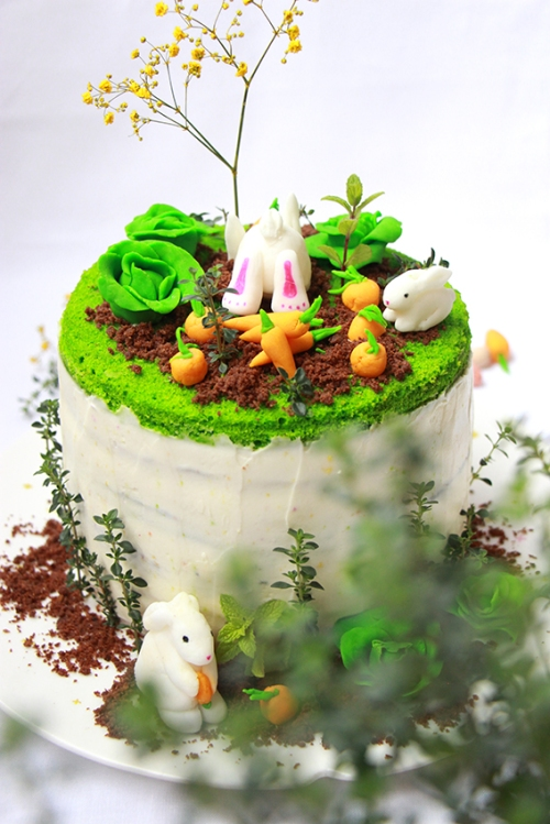 Rainbow cake Paque - devorezmoi 03