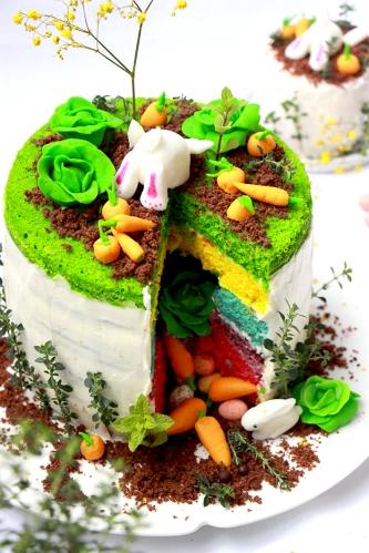 Rainbow cake Paque - devorezmoi 05