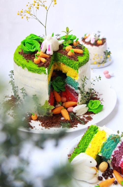 Rainbow cake Paque - devorezmoi 08