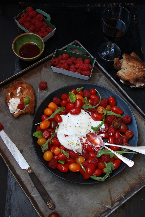 Salade_buratta_tomates_Framboises_Devorezmoi_06