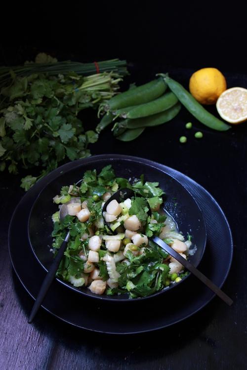 Salade_tiede_herbes_stjacques_devorezmoi_02