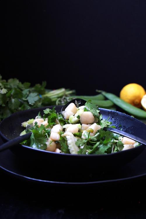 Salade_tiede_herbes_stjacques_devorezmoi_03