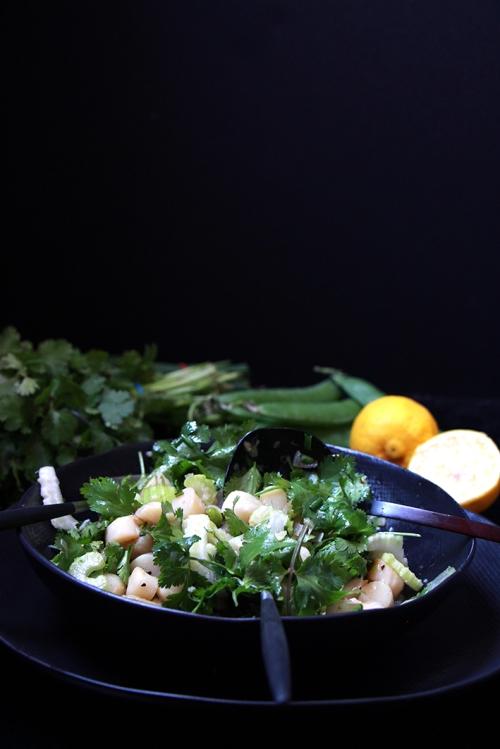 Salade_tiede_herbes_stjacques_devorezmoi_04